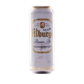 Bitburger Pils 24x0,50l Cans  Export 72 trays/pallet