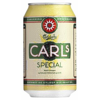 Carlsberg Carls Special 24x0,33 Cans.Export 99 trays/pallet
