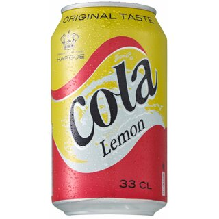 Harboe Cola Lemon 24x0,33L CansExport 99 trays/pallet