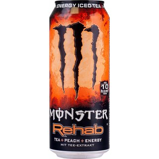 Monster Energy Rehab Peach 12x0,5l Ds.Ex. 120 Trays / Palette
