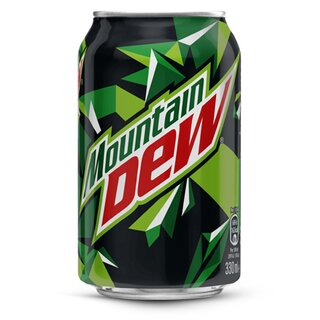 Mountain Dew 24x0,33L Cans Export 99 trays/pallet