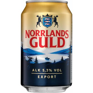 NorrlanCans Guld 5,3% 24x0,33 l Export 81 trays/pallet