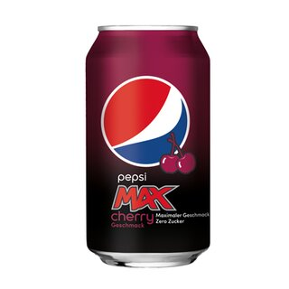 Pepsi-Max Cherry 24 x 0,33L Cans Export 99 trays/pallet