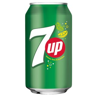 Seven Up 24 x 0,33L Cans.Export 99 trays/pallet