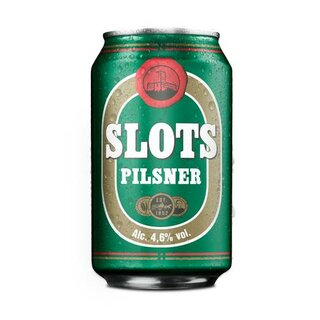 Slots Pilsner 24x0,33l Cans. Export 108 trays/pallet